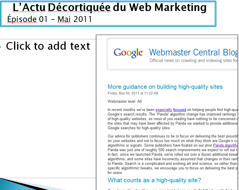 Podcast Actu Décortiquée du Web Marketing